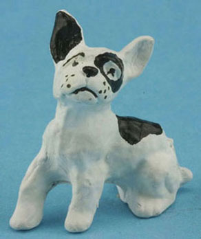 Dollhouse Miniature Boston Terrier - Disc. When Gone