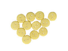 Dollhouse Miniature Buttons 4 mm Yellow 12Pcs