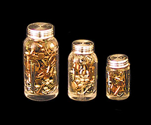 Dollhouse Miniature Nuts and Bolts In Jar 3Pc. Set