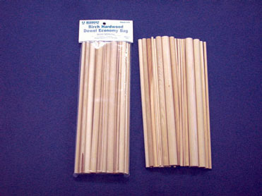 Dollhouse Miniature Dowel Economy Bag 36Pcs