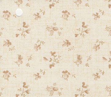 Dollhouse Miniature Pre-pasted Wallpaper, Beige Flowers