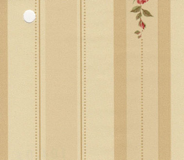 Dollhouse Miniature Pre-pasted Wallpaper, Red Rose Stripe