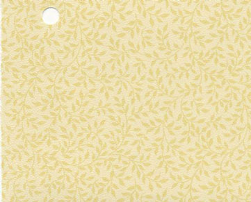 Dollhouse Miniature Pre-pasted Wallpaper, Yellow Leaves