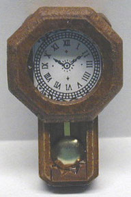 Dollhouse Miniature Walnut Rr Clock/Pendulum