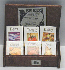 Dollhouse Miniature Seed Box