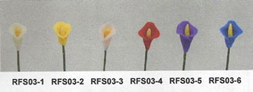 Dollhouse Miniature Calla Lily Stems-/Set Of 12