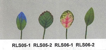 Dollhouse Miniature S/12 Leaf Stems
