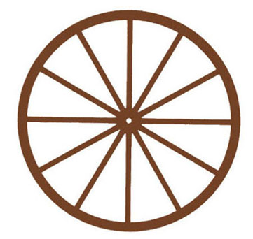 Dollhouse Miniature Wagon Wheel, 3-1/2 In.
