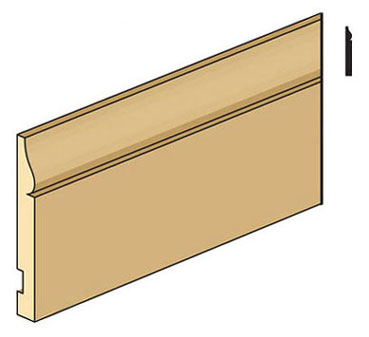 "Dollhouse Miniature Bba-8 1/4"" Baseboard, 1/2 Inch Scale"