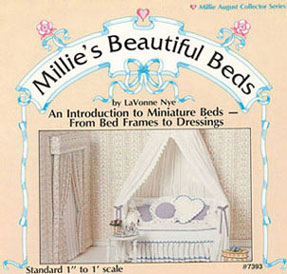 Dollhouse Miniature Millies Beautiful Bed Book