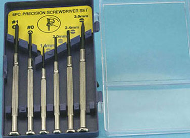 Dollhouse Miniature Jewelers Screwdriver Set, 6 Pc., Carded