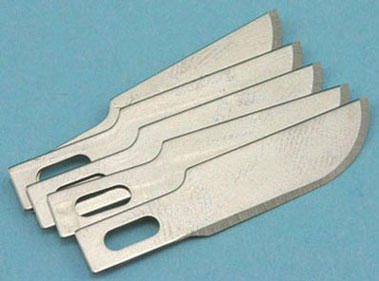 Dollhouse Miniature P#10 Carded Blades, 5/Pk