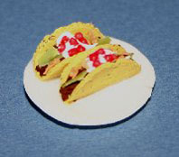 Dollhouse Miniature Tacos