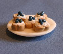 Dollhouse Miniature Tarts, Blueberry