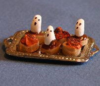 Dollhouse Miniature Cupcakes, Ghost