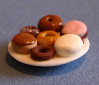 Dollhouse Miniature Donut Plate