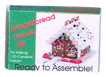 Dollhouse Miniature GINGERBREAD HOUSE BOX