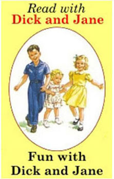 Dollhouse Miniature DICK/JANE READER/COL.PGS
