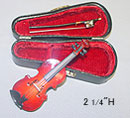 "Dollhouse Miniature 2-1/2"" Violin"