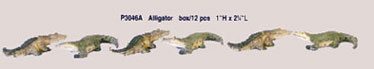 Dollhouse Miniature 12 Pcs. Alligator
