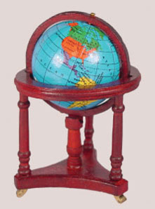 Dollhouse Miniature Globe with Stand
