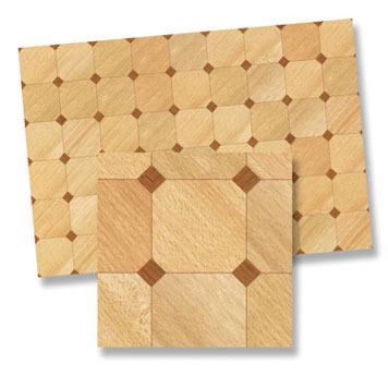 Dollhouse Miniature Parquet, 4Pk