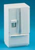 Dollhouse Miniature Modern Refrigerator Bottom Freezer, White