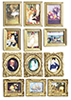 Dollhouse Miniature Framed Masterpieces, 12/Pk