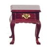 Dollhouse Miniature Square End Table, Mahogany