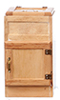 Dollhouse Miniature2-Door Ice Box, Oak