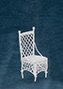 Dollhouse Miniature Straight Chair, White Wire