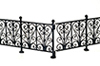 Dollhouse Miniature Wrought Iron Fence, Black, 6Pcs