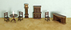 Dollhouse Miniature1/4 Inch Dining Room Set, 8Pc