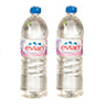 Dollhouse Miniature Rounded Water Bottles, 2 pc