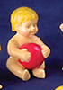 Dollhouse Miniature Baby With Ball