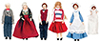 Dollhouse Miniature Country Extended Family, 6Pc