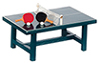 Dollhouse Miniature Ping Pong Table with Rackets