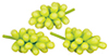 Dollhouse Miniature Green Grapes, 3 Bunches