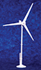 Dollhouse Miniature Home Wind Turbine, White