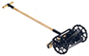 Dollhouse Miniature Old Fashioned Lawnmower, Black