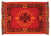 Dollhouse Miniature Karastan Rug/Red/6 X 8
