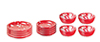 Dollhouse Miniature Red Spattered Dishes, 12 Pc