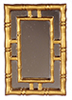 Dollhouse Miniature Wall Mirror, Gold