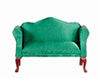 Dollhouse Miniature Sofa, Green