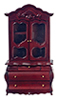 Dollhouse Miniature Fancy Wardrobe, Mahogany