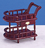 Dollhouse Miniature Tea Cart, Mahogany