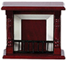 Dollhouse Miniature Victorian Fireplace, Mahogany