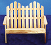 Dollhouse Miniature Adirondack Double Chair, Oak
