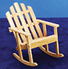 Dollhouse Miniature Adirondack Rocker, Oak