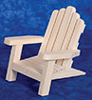 Dollhouse Miniature Adirondack Chair, Pine